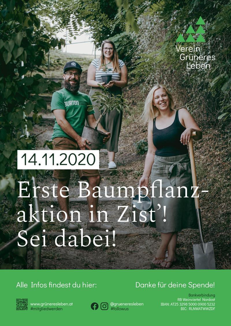 14.11.2020 - Erste Baumpflanzaktion in Zist'!